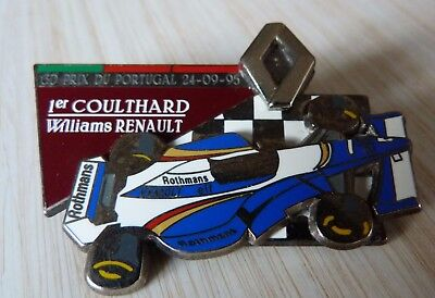 Pin's F1 Formula One Renault Williams Rothmans Coulthard Portugal Zamac 50 Ex