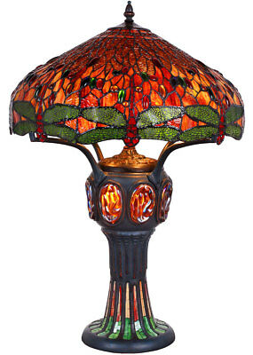 DRAGONFLY MASTERPIECE, große TIFFANYLAMPE ca.82cm ART NOUVEAU TIFFANY TABLE LAMP