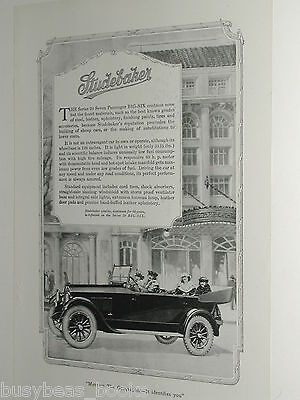 1920 Studebaker advertisement page, STUDEBAKER Series 20 Big-Six automobile
