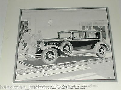 1929 STUDEBAKER advertisement, Studebaker Commander Eight, art deco artwork