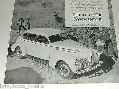 1940 Studebaker Commander ad, sedan, Grand Canyon