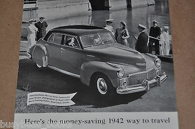 1942 STUDEBAKER advertisement, Studebaker Commander, Great Lakes Naval Academy