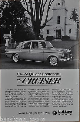 1963 STUDEBAKER advertisement, Studebaker Cruiser, small town wood Church