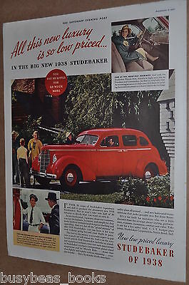 1938 Studebaker advertising page, STUDEBAKER,  vintage automobile, color