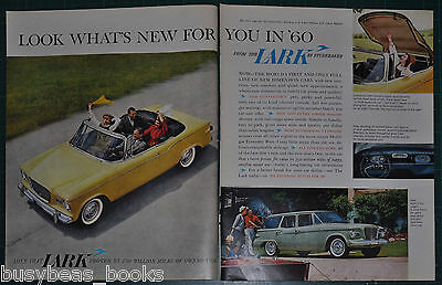 1960 STUDEBAKER LARK 2-page advertisement, Lark convertible & station wagon