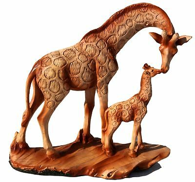 Free standing graceful giraffe and calf decorative ornament