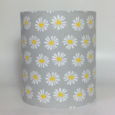 Yellow Daisies, Grey Background Medium Fabric Light Shade