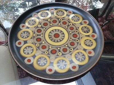 Rare LARGE DENBY Arabesque ROUND PLATTER / SERVING PLATE* 14 inches Dia * VGC