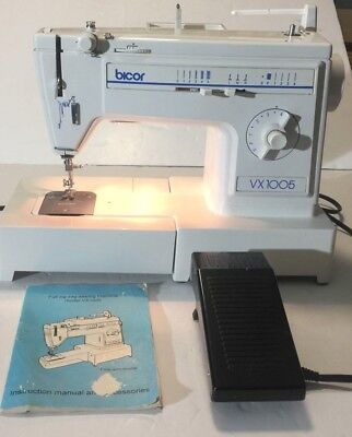 BROTHER BICOR VX40 Electric Zig Zag Sewing Machine w foot pedal New Brother Zig Zag Sewing Machine