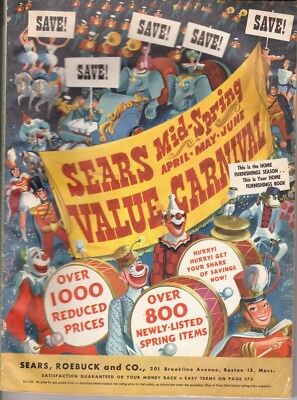 Sears 1952 Mid Spring Value Carnival Catalog Sears Roebuck and Co Boston Ma