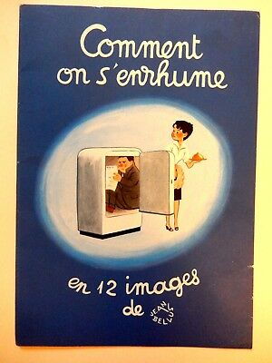 JEAN BELLUS - Comment on s'enrhume en 12 images calendrier 1968