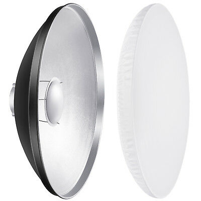 Neewer Photography 27.5 inch Aluminum Reflector Beauty Dish with White Diffuser