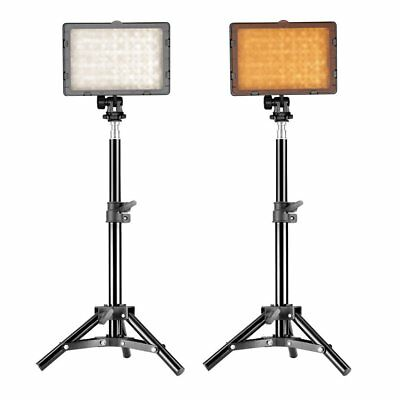 Neewer 2-Pack 126 LED Video Light Dimmable LED Panel with 32-inch Light Stand