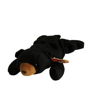 TY Beanie Baby - BLACKIE the Black Bear (8.5 inch) - MWMTs Stuffed Animal Toy