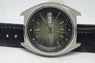 *vintage Seiko 5 Automatic Day&date Brown Color Original Dial Stylish Figure