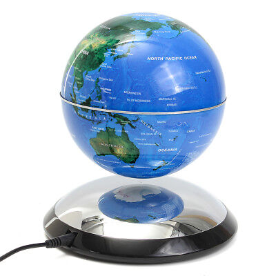 6 inch magnetic levitation floating globe world map blue birthday 6 inch magnetic levitation floating globe world map blue birthday gift decro gumiabroncs Images