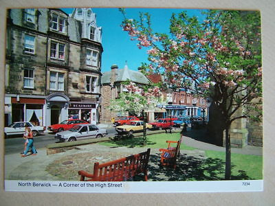 Postcard. NORTH BERWICK - A CORNER OF THE HIGH STREET. Unused.