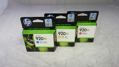 Original HP 920XL Tintenpatronen Set  magenta, cyan, yellow NEU