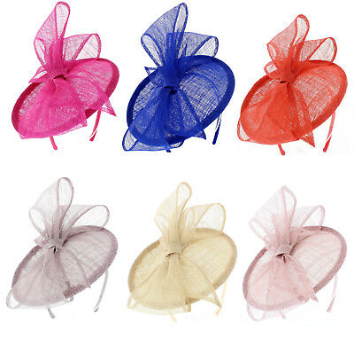 Fischer Accessories Small Disc & Bow Headband Fascinator wide choice of colours