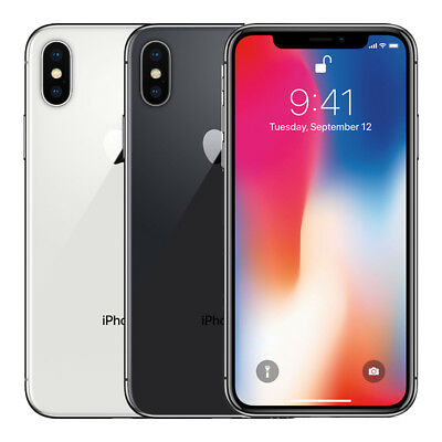 "Apple iPhone X 256GB ""Factory Unlocked"" 4G LTE iOS WiFi 12MP Camera Smartphone"