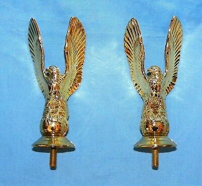 2 Vintage Gold Eagle Wings Up Trophy Parts Toppers New Old Stock PDU 455