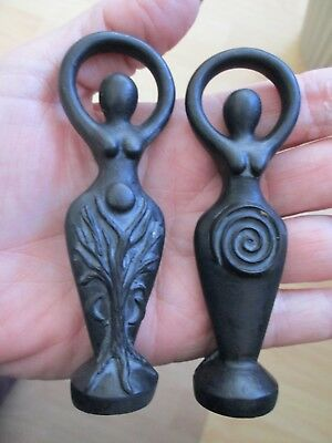 Spiral Lord and Lady Mini Set Goddess Wiccan Pagan Nature Spirits Black #BSGG