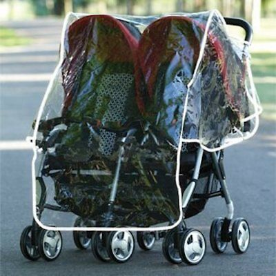 Double Stroller Raincover Compatible With Most Double Pushchair (K29