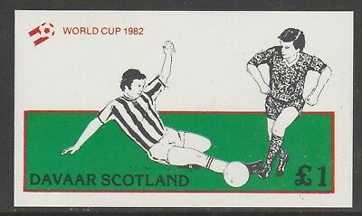 GB Locals DAVAAR 7469 - 1982 FOOTBALL WORLD CUP souvenir sheet u/mint