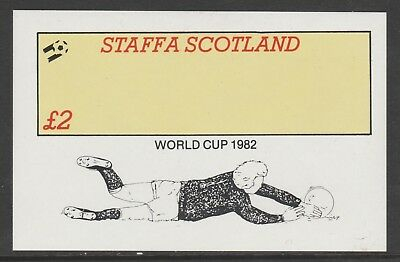 GB Locals STAFFA 7475 - 1982 FOOTBALL WORLD CUP deluxe sheet u/mint
