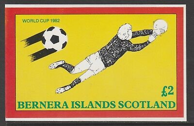 GB Locals BERNERA  7479 - 1982 FOOTBALL WORLD CUP deluxe sheet u/mint