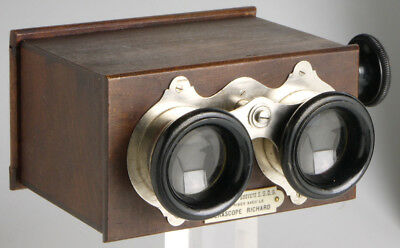 Richard Stereoscope 45x107 for Verascope glass plates _ wooden viewer 3D _ Paris