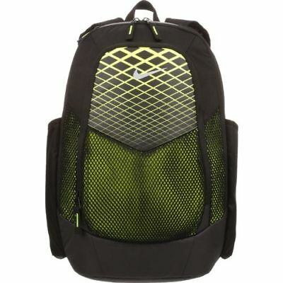 704078b2cd Nike VAPOR POWER Training Backpack Gym Book Bag - Black Volt