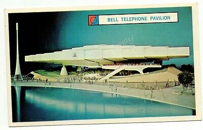 Bell Telephone System Exhibit Pavilion New York World's Fair 1960s Vintage Card