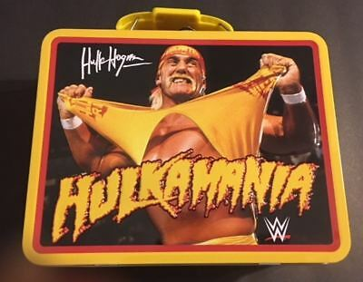 Hulkamania Hulk WWE collectible metal Lunch Box container no thermos wrestling