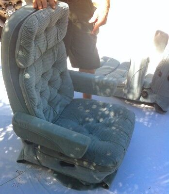 Remarkable Captain Chair Slide Pivot Swivel Recline Rotate Bed Rv Bralicious Painted Fabric Chair Ideas Braliciousco