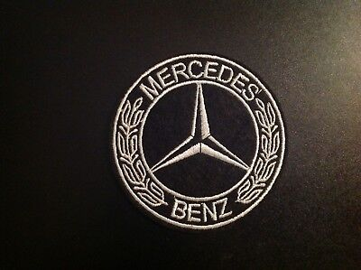 """3"""" Mercedes-Benz Classic Logo Embroidered Iron On/Sew On Patch USA SELLER"""