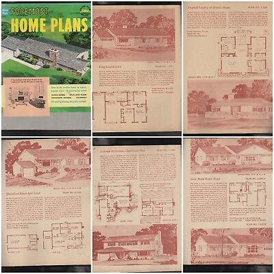 Foremost House Plans 1950S Mid Century Mod Atomic Ranch Traditional   Colonial R
