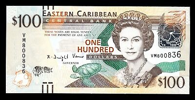 EASTERN CARIBBEAN STATES $100 ND (2012) P. 55 UNC Note QEII