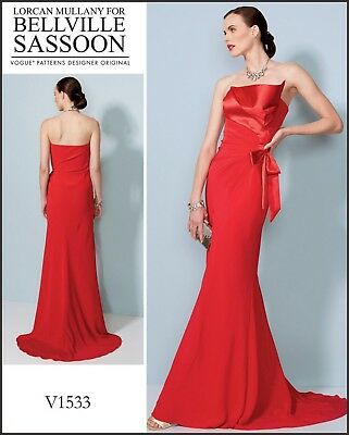 V1533 Vogue 1533 SEWING PATTERN Bellville Sassoon PROM Dress Special Occasion