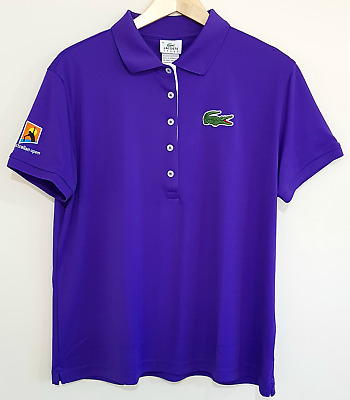 Lacoste Australian Open Purple Anemone Polo Tshirt Big Croc Brand New Size 50