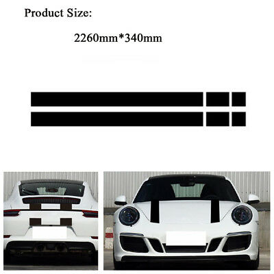 1 Set Car Front Bonnet &Rear Tailgate Hood Trunk Engine Cover Sticker Waterproof