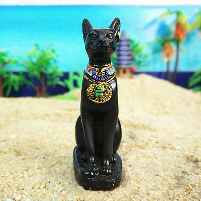 2.7'' Egyptian Bastet Bast Goddess Collectible Cat Figurine Statue Sculpture