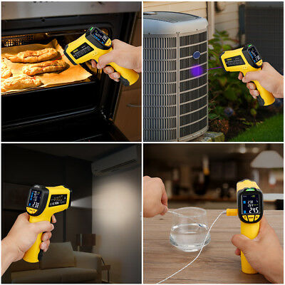 Infrared Thermometer IR-818 -58°F~1382°F Digital IR Thermocouple DE