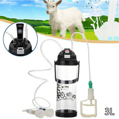 3L Goat Milking Machine Sheep Cow Milker Household Bucket Portable Vacuum Barrel