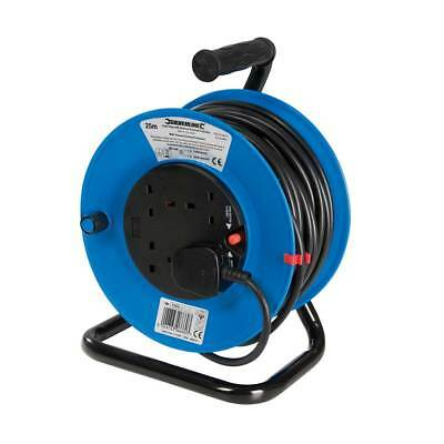 PowerMaster 4 Socket 25M Extension Reel Mains Power Lead Cable 13A 230V