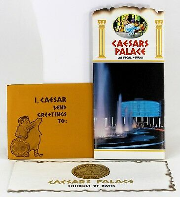 Caesars Palace Las Vegas Advertising Packet Large Color Brochure, Rate Card 1971