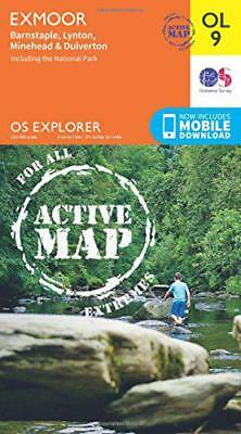 OS Explorer ACTIVE OL9 Exmoor (OS Explorer Map Active) by Ordnance Survey | Map