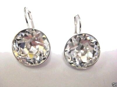 Bella Clear Crystal Pierced Earrings Rhodium Plating Swarovski Jewelry 883551