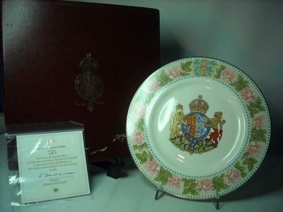 """Mulberry Hall QUEEN MOTHER 80th Birthday Cabinet Plate Ltd Ed 10.6"""" + Box + COA"""