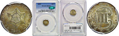 1851 Silver Three Cent Piece PCGS MS-65+ CAC